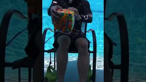 LARGEST Rubik's Cube Solved UNDERWATER! (4 Hours)