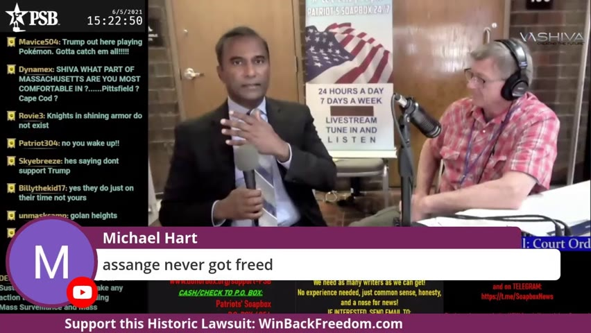 Dr.SHIVA LIVE with Patriot Soapbox at RedPill Expo 2021