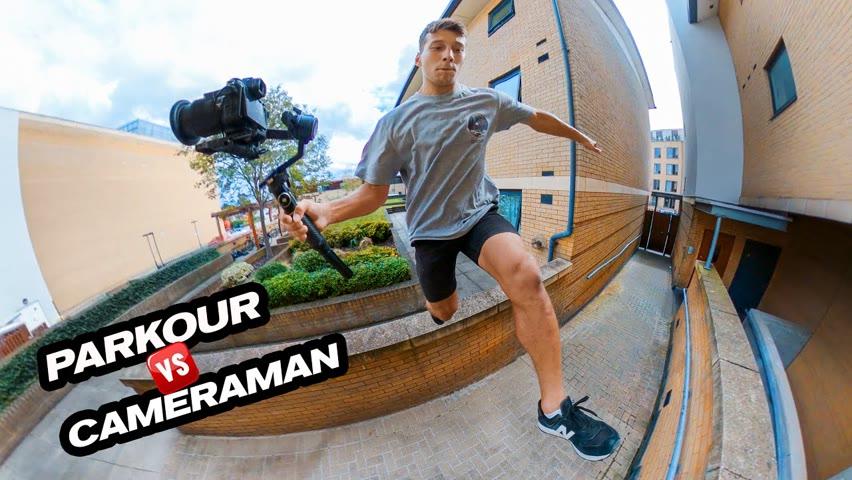 Parkour vs Cameraman - Please don't drop the camera!