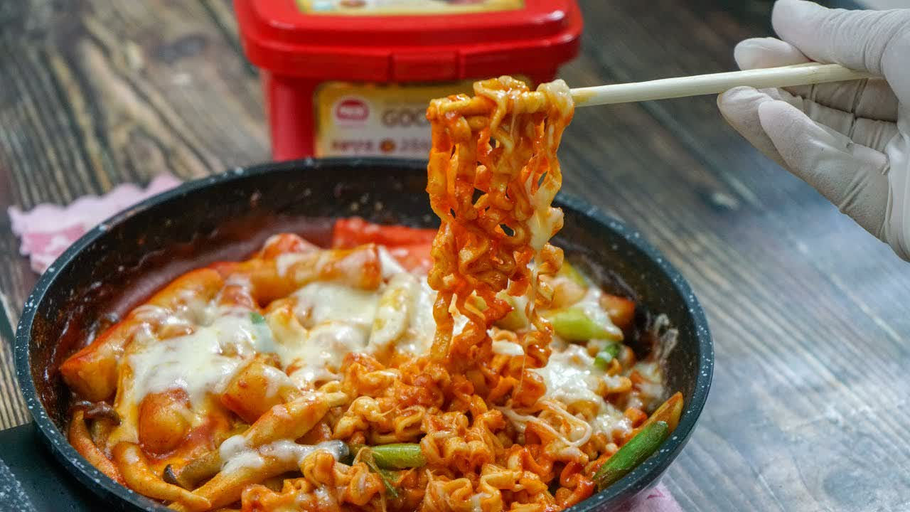 Cheese Tteokbokki Ala Korea   Cheese Tteok-bokki Korean Food   MyDapur Panas