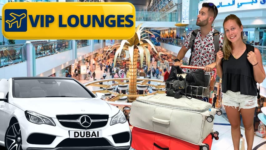 Dubai Airport Business Lounges Review / FREE AIRPORT FOOD AND DRINK ✈️