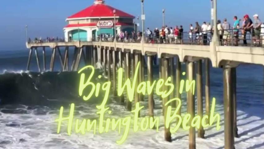 Big Waves in Huntington Beach