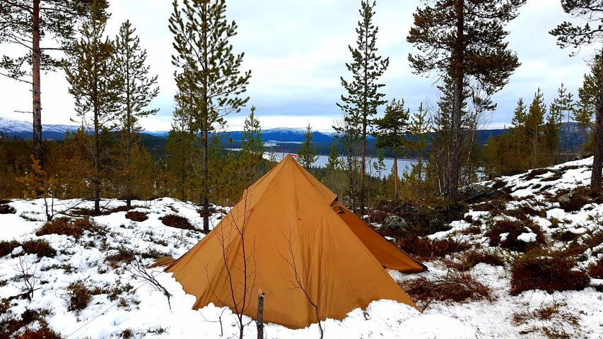 Winter Camping on a Mountain
