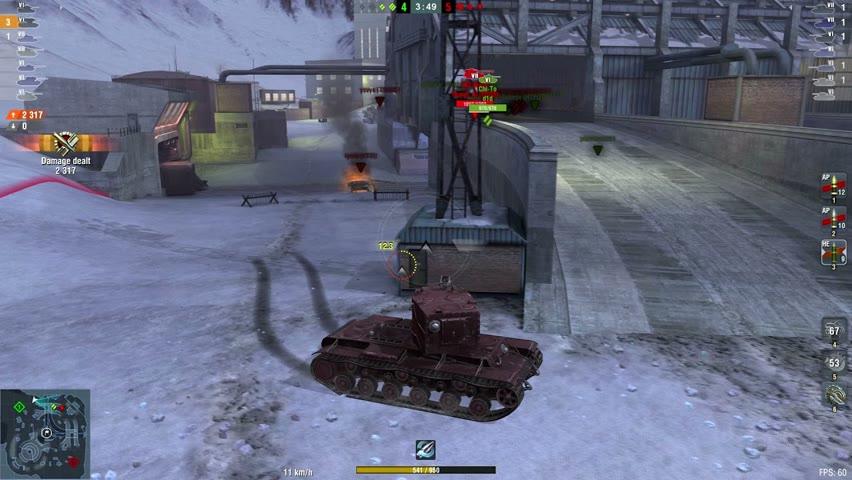 KV-2 4845DMG 6Kills   World of Tanks Blitz   LMC_ace