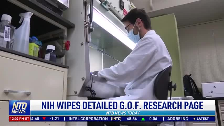NIH Wipes Detailed Explanation of Gain of Function Research From Website
