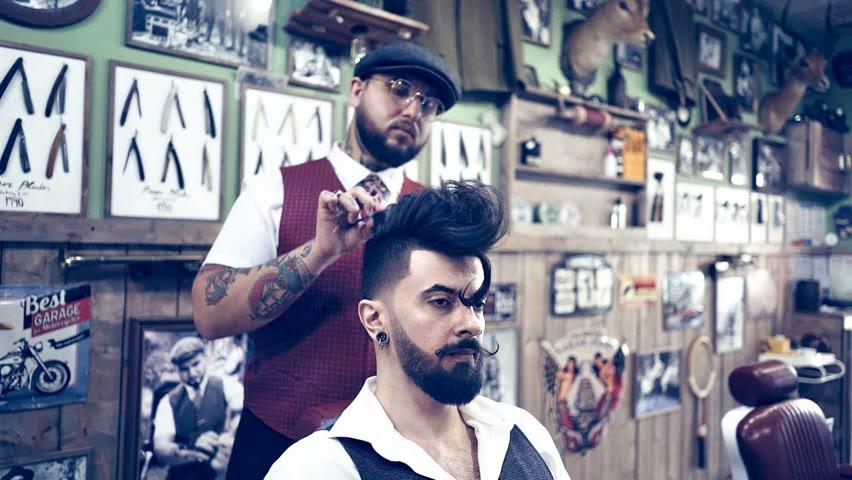 💈 ASMR BARBER - How to get a ROCKSTAR Haircut & Beard Trim 🔥