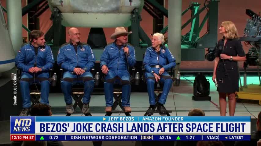 Bezos's Joke After Space Flight Faces Criticism