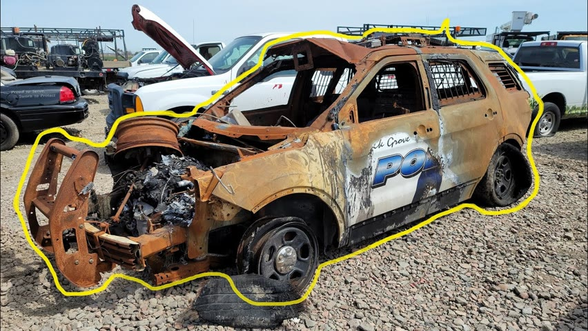Searching A Police SUV after Arson!