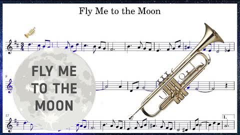 Fly Me to the Moon (Trumpet Sheet Music Play Along!)