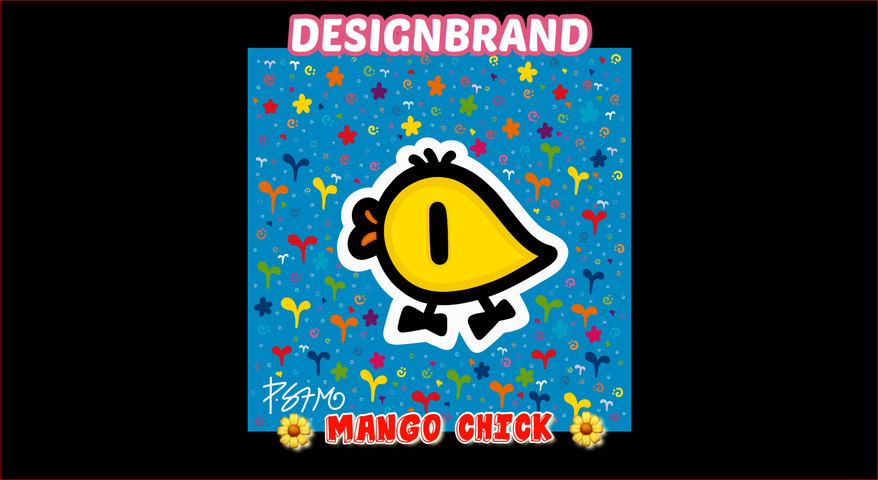 망고 삐악이   Mango Chick series 1st   REDBUBBLE   DESIGNBRAND Paulo