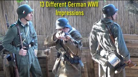 13 Different German WW2 Wehrmacht ( Heer ) Army Impressions