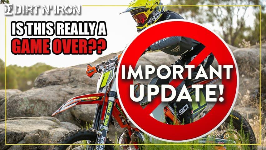 No more dirt bikes?? - UPDATE