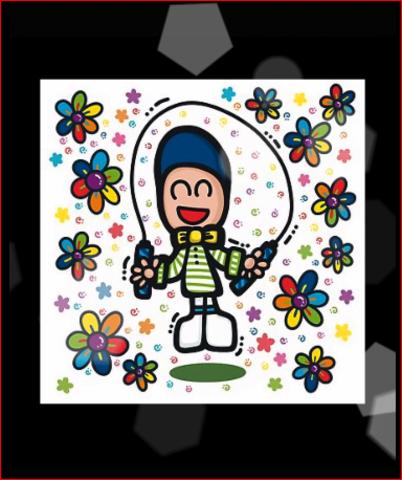 rainbow floral   kid's doodle   jump lope   REDBUBBLE   DESIGNBRAND Paulo
