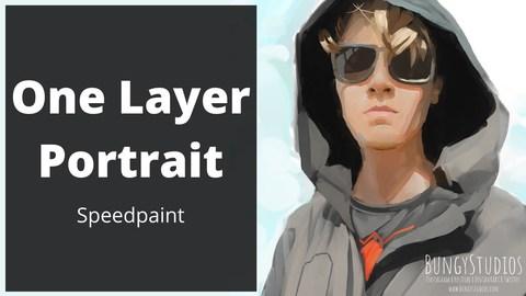 One Layer Digital Portrait Painting (Commission for @j4cob_kelderm4n on Instagram)    Speedpaint