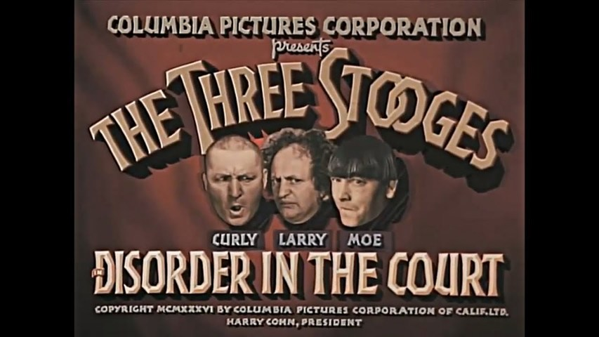 Disorder In The Court  The Three Stooges Color HD