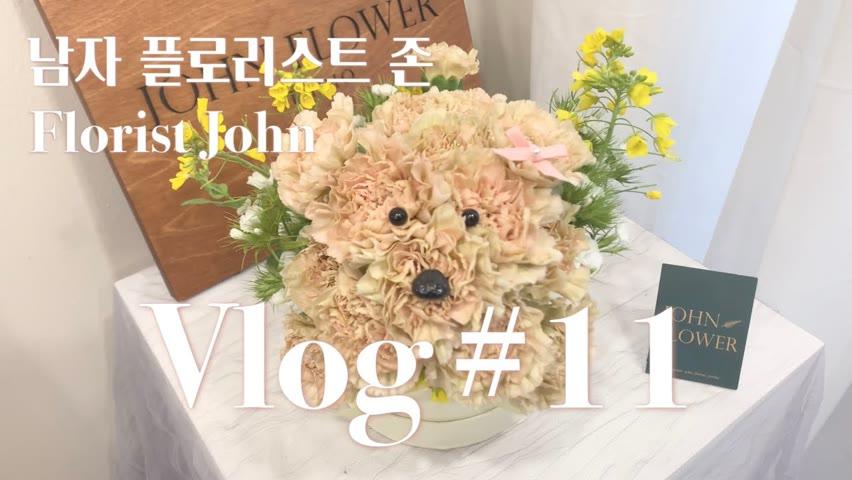 [SUB][#11 남자 플로리스트 브이로그] 꽃강아지 만들기 / 졸업식 꽃다발 만들기 / Korean Male Florist Vlog / Flower Puppy