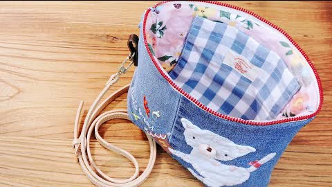 DIY Christmas Gift Idea┃Cute Sling Bag┃Old Jeans Recycle