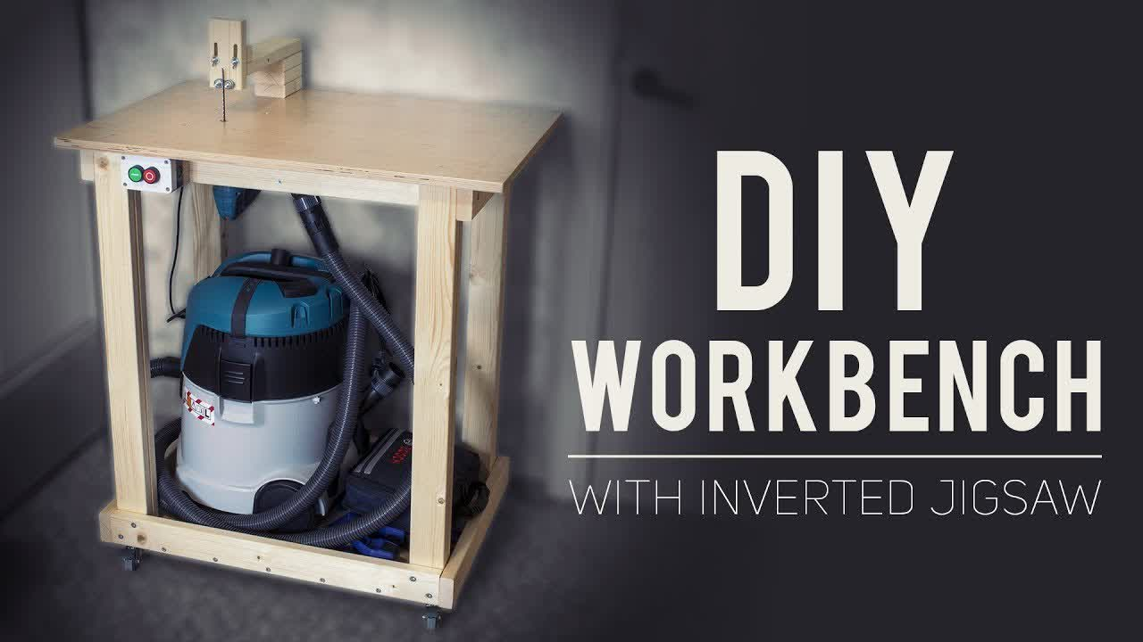 DIY Small / Portable / Convenient Workbench With Inverted Jigsaw [How To Make]