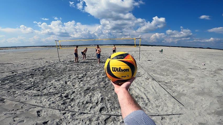 Волейбол от первого лица 🇷🇺 | BEACH VOLLEYBALL FIRST PERSON | DESERT GAME | 128 episode