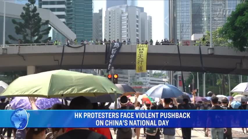 HK protesters face violent pushback on China's National Day