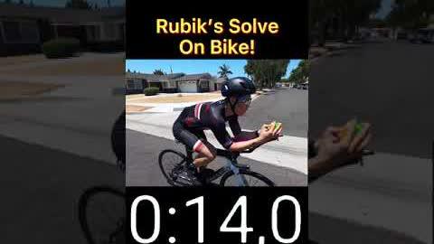 Rubik's Solve on BIKE!