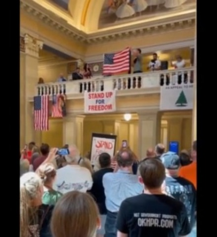 Vaccine Mandate Protest In OK,