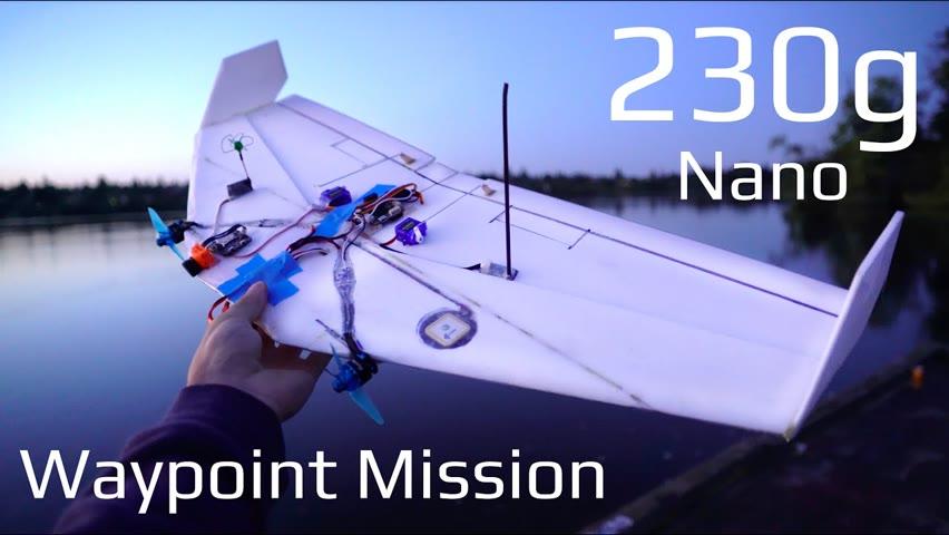 Tiny Waypoint Drone! - 230g Autonomous Wing
