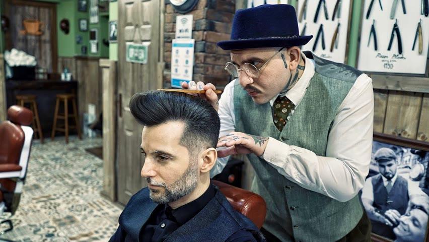 💈 ASMR BARBER - MR. Grizzled HAIRCUT and BEARD TRIM