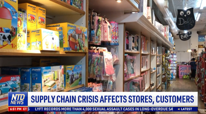 Supply Chain Crisis Affects Stores, Customers