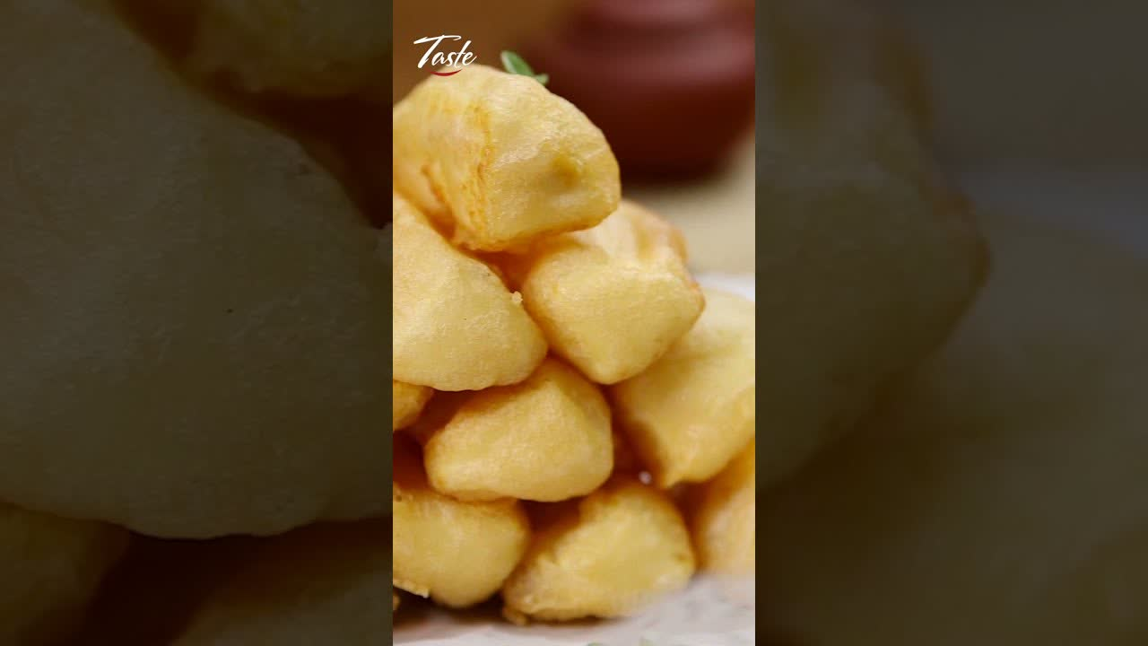 Melt in Your Mouth Fried Milk by Chinese Masterchef #shorts