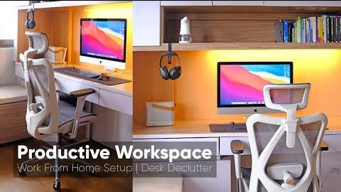 Productive Workspace 2021 - Work From Home Setup + Desk Declutter