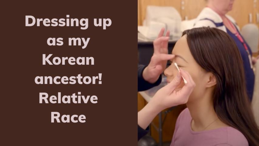 Dressing up as my Korean ancestor! | Relative Race