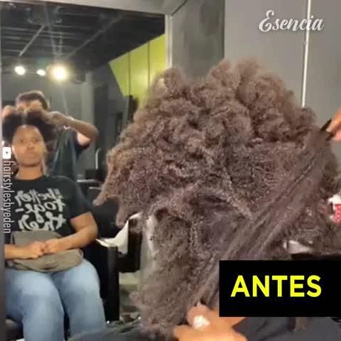 Hermosa transformación del cabello
