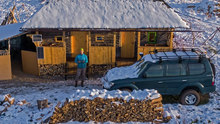 Prima zăpadă la cabană - Iarna e cel mai frumos anotimp