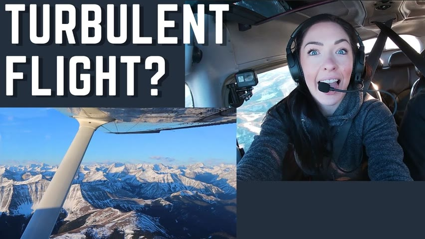 A Turbulent Flight   Flying Again in a C172?? Flying in the Canadian Rockies   GoPro Hero 7 + ATC!