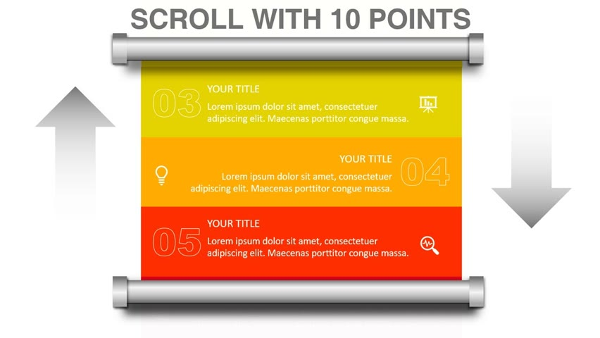 Create Scroll animation with 10 Points in PowerPoint