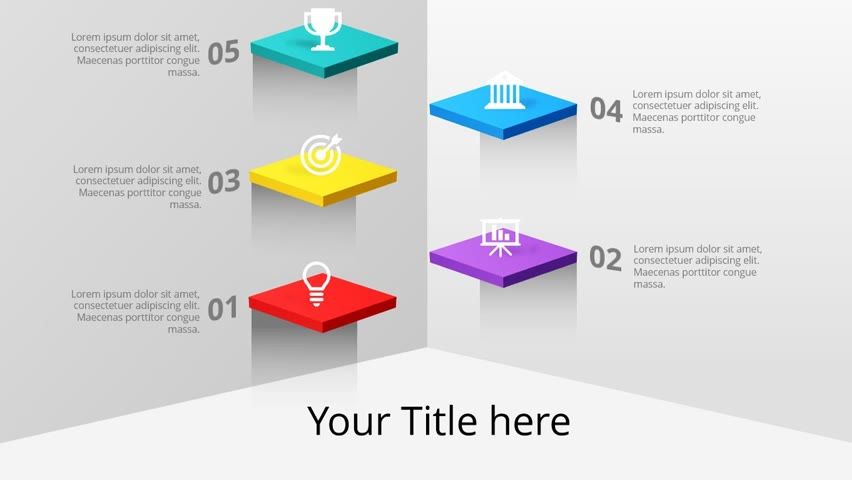 Step by Step 3D Levels Slide in PowerPoint