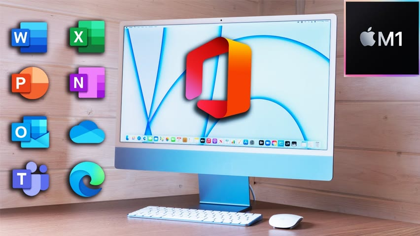 Office 365 on NEW 2021 iMac M1 - Word, Excel, Teams & More!