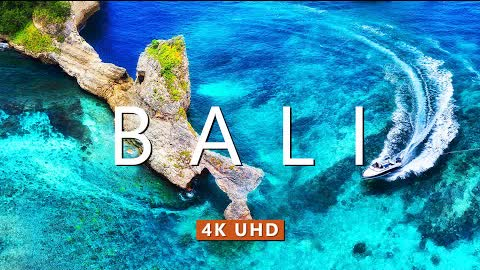 Bali Indonesia From Above (4K Ultra HD) - Nature Relaxation Film With Calming Piano Music