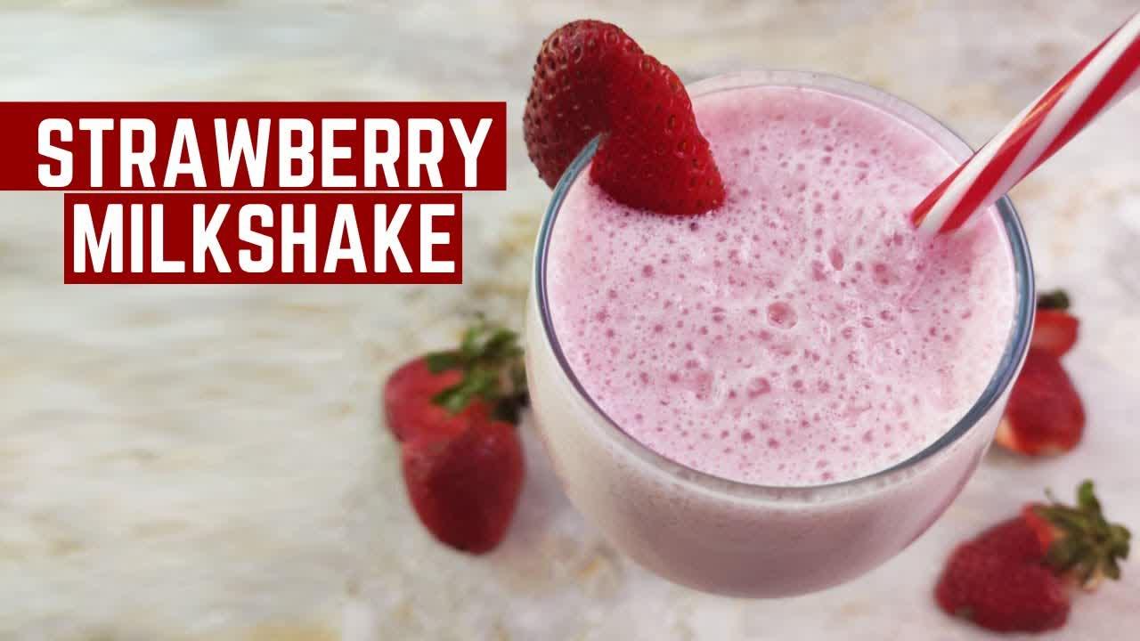 STRAWBERRY MILKSHAKE   Strawberry ice cream shake   Mamagician