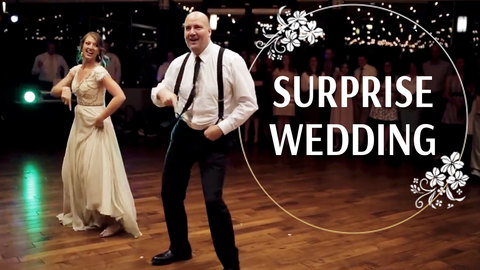 Father and Daughter Surprise Wedding Guests With Epic Dance Routine