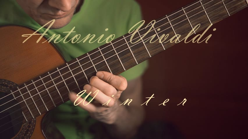 Vivaldi Winter guitar | Music 2021 - 1725 | Guitar cover acoustic | Music for the soul