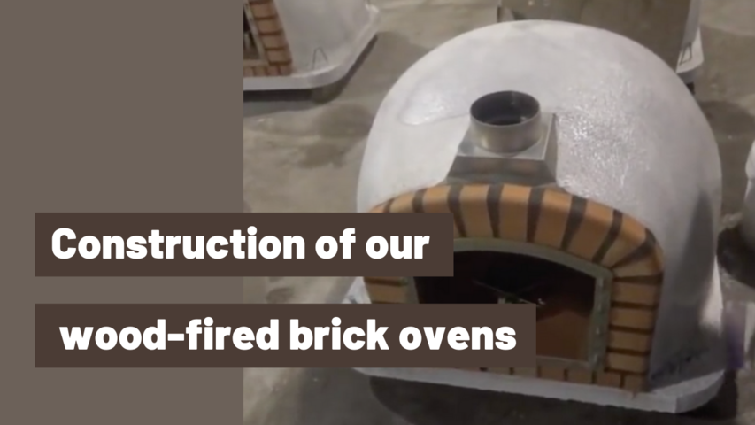 Construction of our wood-fired brick ovens