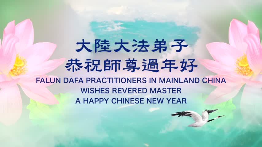 大陸大法弟子恭祝李洪志師尊過年好