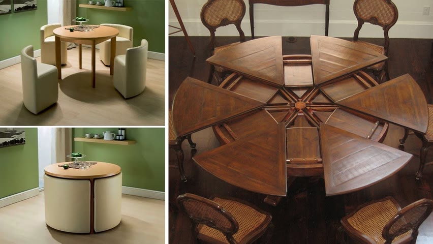 Amazing Expandable Tables   Space Saving Furniture Ideas With Genius Designs▶2