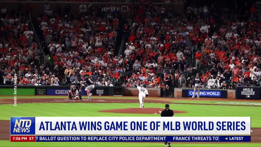 Atlanta Wins Game One of MLB World Series