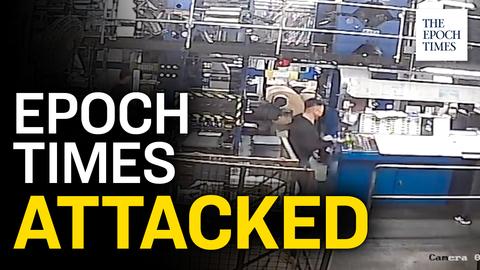 Hammer-Wielding Intruders Attack Hong Kong Epoch Times Printing Press