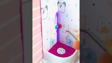 How To Make Miniature Barbie Bathroom | DIY Miniature House #shorts
