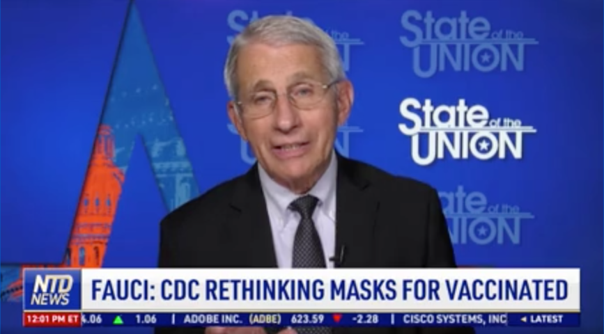 Fauci: CDC Rethinking Masks for Vaccinated