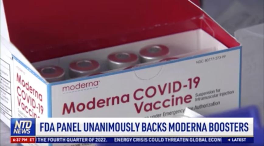 FDA Panel Unanimously Backs Moderna Boosters
